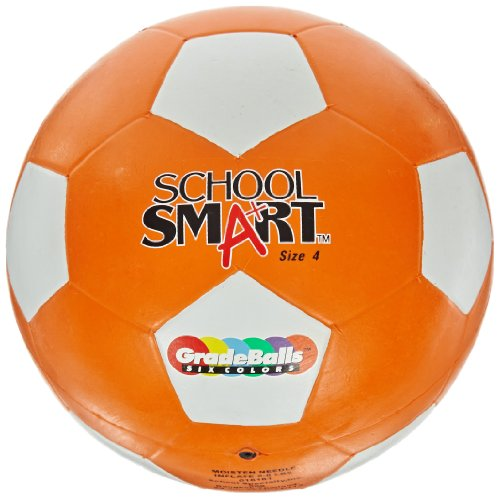 重々しい同化する同志School Smart 016181 Nylon Winding & Butyl Rubber Bladder Soccer Ball, No 4, Orange