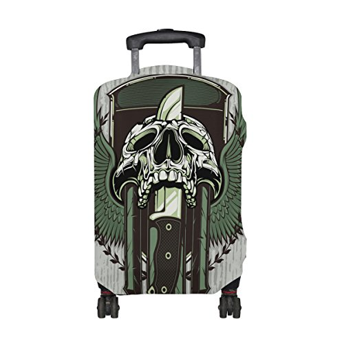 Punk Skull Travel Luggage Protector Baggage Suitcase Cover Fits 29-32 Inch Luggage by CoolPrintAll (Image #1)