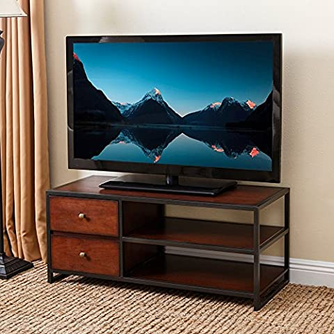 Abbyson Living Winston Wood 42-inch TV Stand - Cherry Finished Tv Stand