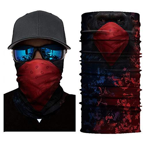 Palalibin Cycling Motorcycle Head Scarf Neck Warmer Face Mask Ski Balaclava Headband (E, Free)