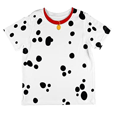8215f7b07 Amazon.com  Dog Dalmatian Costume Red Collar All Over Toddler T ...