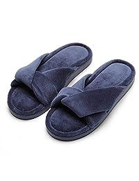 INFLATION Women Home Spa Slippers Velvet Slippers Non-Slip Soft Chinese Knot Slipper