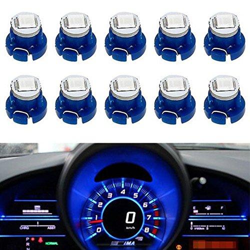Partsam 10pcs T3 Neo Wedge LED Bulb Blue AC Cluster Climate Radio Switch Light Lamp for 1998-2010 Honda Civic