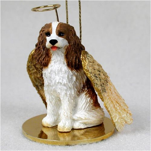 Conversation Concepts Cavalier King Charles Spaniel Brown & White Pet Angel Ornament