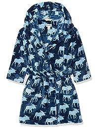 Hatley Kids Fleece Robe - Moose Shadows