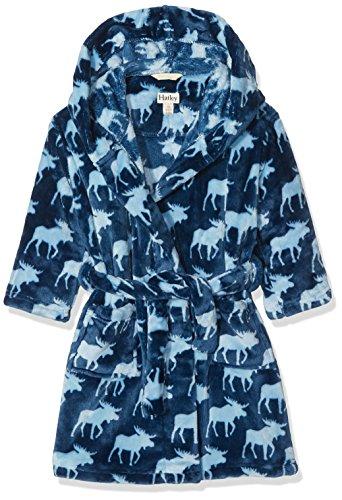 (Hatley Boys Fuzzy Fleece Robes, Moose Shadows Large (6-7 Years))