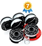 Garden Ninja Replacement Trimmer Spool for BLACK+DECKER AF100, 6-Spool with 1 Cap