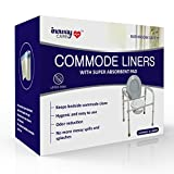 Commode Liners with Absorbent Pad - 24 Medical Grade Bedside Commode Bags for Adult Toilet Chair, Bucket or Pail | Super Absorbent Design Preserves Cleanliness & Hygiene | Odor Reduction | No Mess