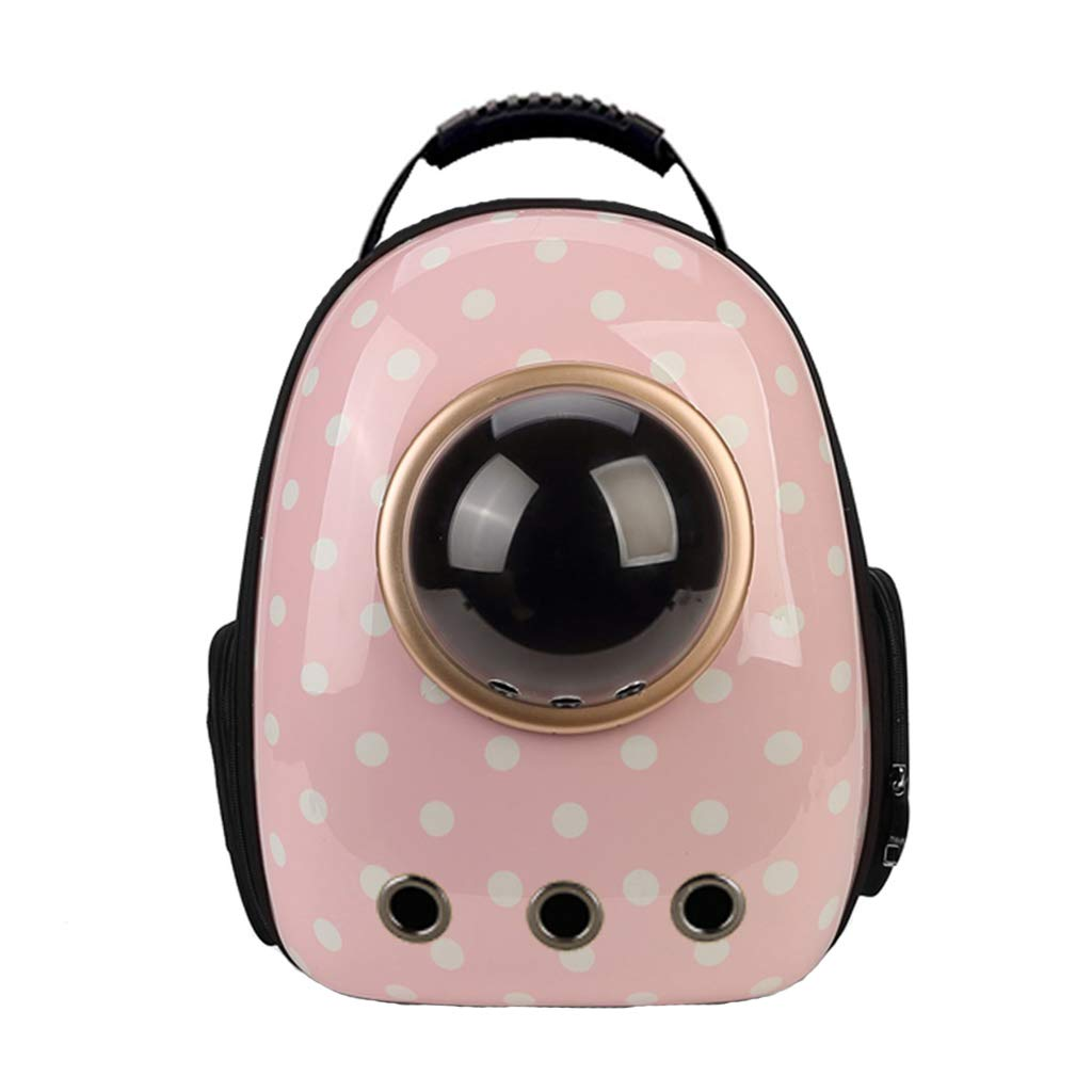 Pet Backpack Breathable Capsule Astronaut Bubble Pet Cat Dog Carrier Waterproof Travel Portable Premium Backpack (42cmX27cmX29cm) Pink