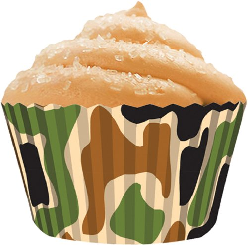 CupcakeCreations BKCUP-8846 Standard Cupcake Baking Cup, Camo, 32-Pack
