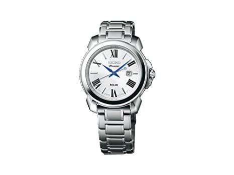 Seiko Reloj Analógico para Mujer de Energía Solar con Correa en Acero Inoxidable SUT321P1: Amazon.es: Relojes