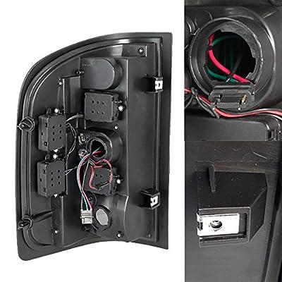 For Black Smoke 07-13 Siverado Pickup Full LED Tail Lights Brake Lamp Replacement Driver And Passenger: Automotive