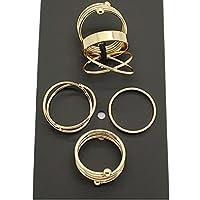 ERAWAN 6PCS Rings Urban Gold stack Plain Above Knuckle Ring Band Midi Ring Set Gift EW sakcharn