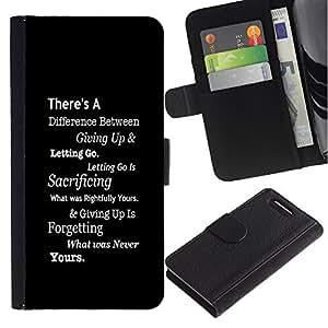 Planetar® Modelo colorido cuero carpeta tirón caso cubierta piel Holster Funda protección Para Sony Xperia Z3 Compact / Z3 Mini (Not Z3) / Z3 Mini (Not Z3) ( Inspiring Negro Mensaje Texto blanco inteligente )