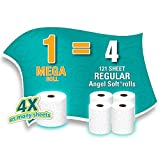 Health & Personal Care : Angel Soft Toilet Paper, Bath Tissue, 36 Mega Rolls (4 Packs of 9 Rolls)