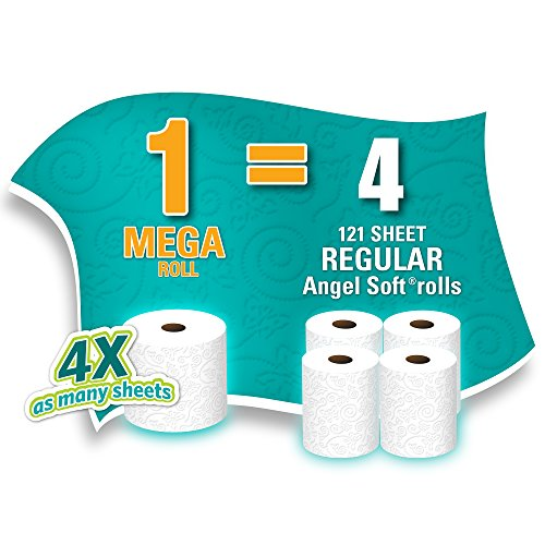 Angel Soft Toilet Paper, Bath Tissue, 24 Mega Rolls
