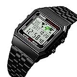 Men's Watch Black Multifunction Steel Belt Wrist Watches Classic Gifts Fashion Waterproof