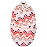 Blankets & Beyond Girls Chevron Swaddle Bag (0-3 months)