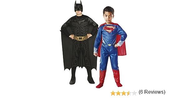 Rubies - Pack 2 disfraces Batman y Superman, para niños, talla M (154994-M): Amazon.es: Juguetes y juegos