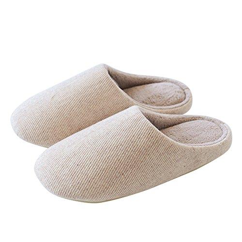 40 Grigio In Di Coppie Zhirong 41 Pantofole E Mute L Le Inverno Autunno Colore Dimensioni Beige Per Antisdrucciolevole Acciaio xOz1za