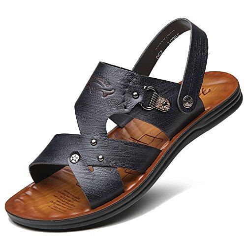 Sandali di estate degli uomini nuovi di modo degli uomini di ventilazione degli uomini di salto di sandali di modo degli uomini, nero, UK = 6,5, EU = 40