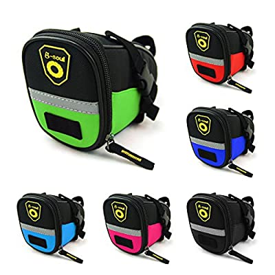 Bike Saddle Bag, LONGTEAM Under Seat Pack, MTB Bike Cycling Bicycle Strap-On Saddle Bag / Seat Bag