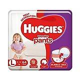 Huggies Wonder Pants Diapers, Large (Pack of 64)