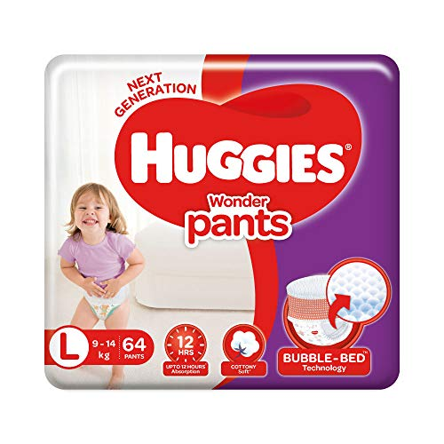 Huggies Wonder Pants, Large Size Diapers, 64 Count