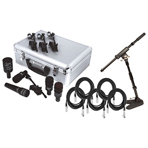 - Audix DP5a 5-Piece Drum Microphone Pack w/ 5 Free Mic Cables and 1 Mini Boom Stand!