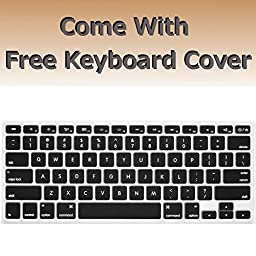 Macbook Air 13 inches Rubberized Hard Case for model A1369 & A1466, GRAFICO Endless Sea Design with Green Bottom Case, Come with Keyboard Cover