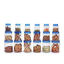 Cello Checkers Plastic Container Set, 18-Pieces, Blue