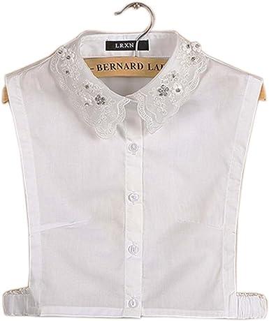 Collar de Camisa Falsa con Cuello Desmontable Elegante Simple Accesorio de Uso múltiple para Mujeres, N: Amazon.es: Ropa y accesorios