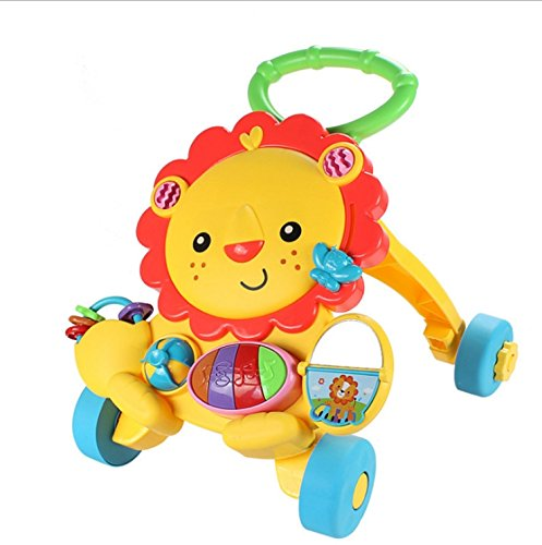 Baby Walker Baby Early Learning Puzzle Multi-Function Walker with Music Little Lion Anti-Rollover Cart by Baby walker (Image #5)