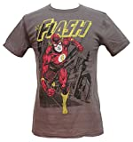 Flash Running Adult T-shirt (Medium, Charcoal)