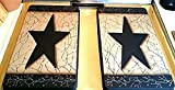 Farmhouse Style Crackled Stove Burner Covers Set