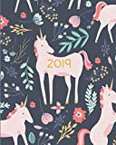 2019 Planner Weekly And Monthly: Calendar Schedule + Organizer | Inspirational Quotes And Fancy Unicorn Cover | January 2019 through December 2019