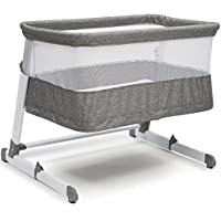Simmons Kids Room2Grow Newborn Bassinet to Infant Sleeper, Grey Tweed