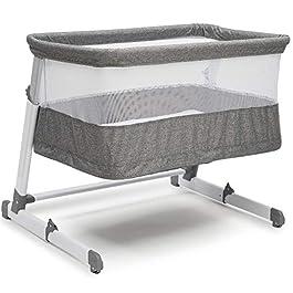 Simmons Kids Room2Grow Newborn Bassinet to Infant Sleeper, Grey Tweed