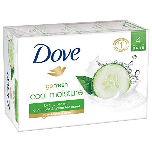 Dove go fresh Beauty Bar 4 Piece, Cool Moisture, 4 Ounce