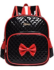 Moonwind Bow Waterproof Kindergarten Kids Toddler Backpack Girls School Book Bag (Black)