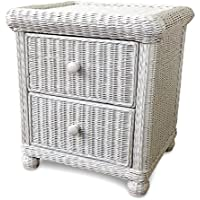 Wicker Paradise GA102 Elana Two Drawer Nightstand, Small