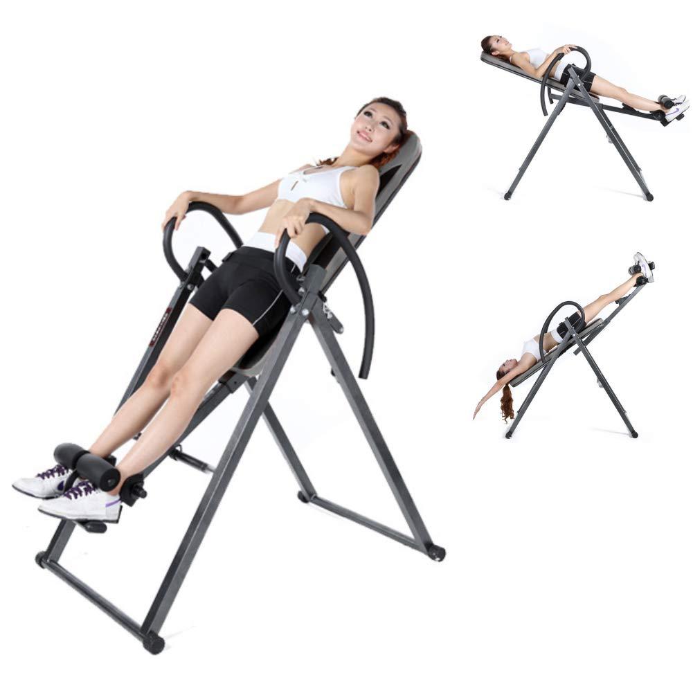 ヘビーデューティ反転テーブル 屋内逆さまに折りたたみ折りたたみ式テーブルホーム腰椎ストレッチフィットネス   B07PD16VD9
