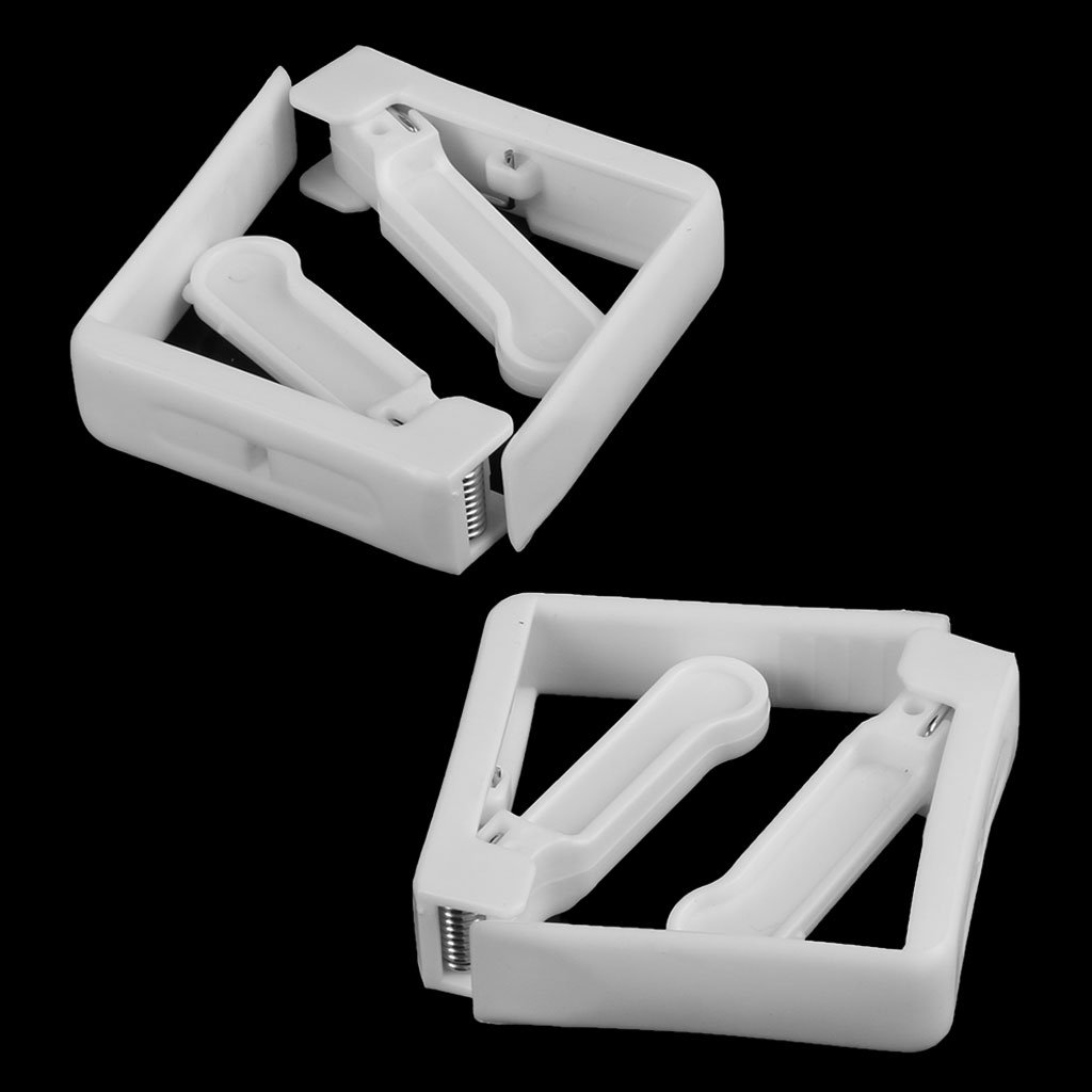 1 Packung mit 4 Edelstahlfeder Plus Tischdeckenhalter aus Kunststoff Tischtuchclip YoungerY