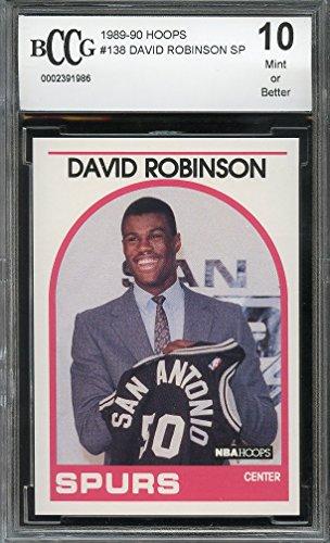 1989-90 hoops #138 DAVID ROBINSON SP san antonio spurs rookie card BGS BCCG 10 Graded Card -