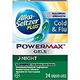 Alka-seltzer Plus Maximum Strength Cold & Flu Power Max Gels Night, 24 Count