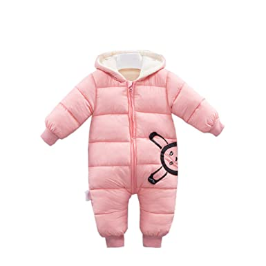 432becfad Amazon.com  Fairy Baby Infant Baby Unisex Winter Thick Fleece Romper ...