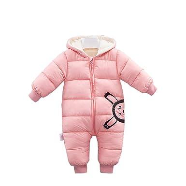 432becfad Amazon.com  Fairy Baby Infant Baby Unisex Winter Thick Fleece Romper ...