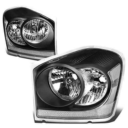 - For Durango Pair of Black Housing Clear Corner Headlight Lamp