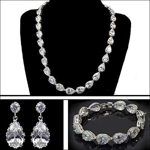 Cubic Jewelry Set | Pear Shape | Necklace | Earring | Bracelet | Jewelry Set