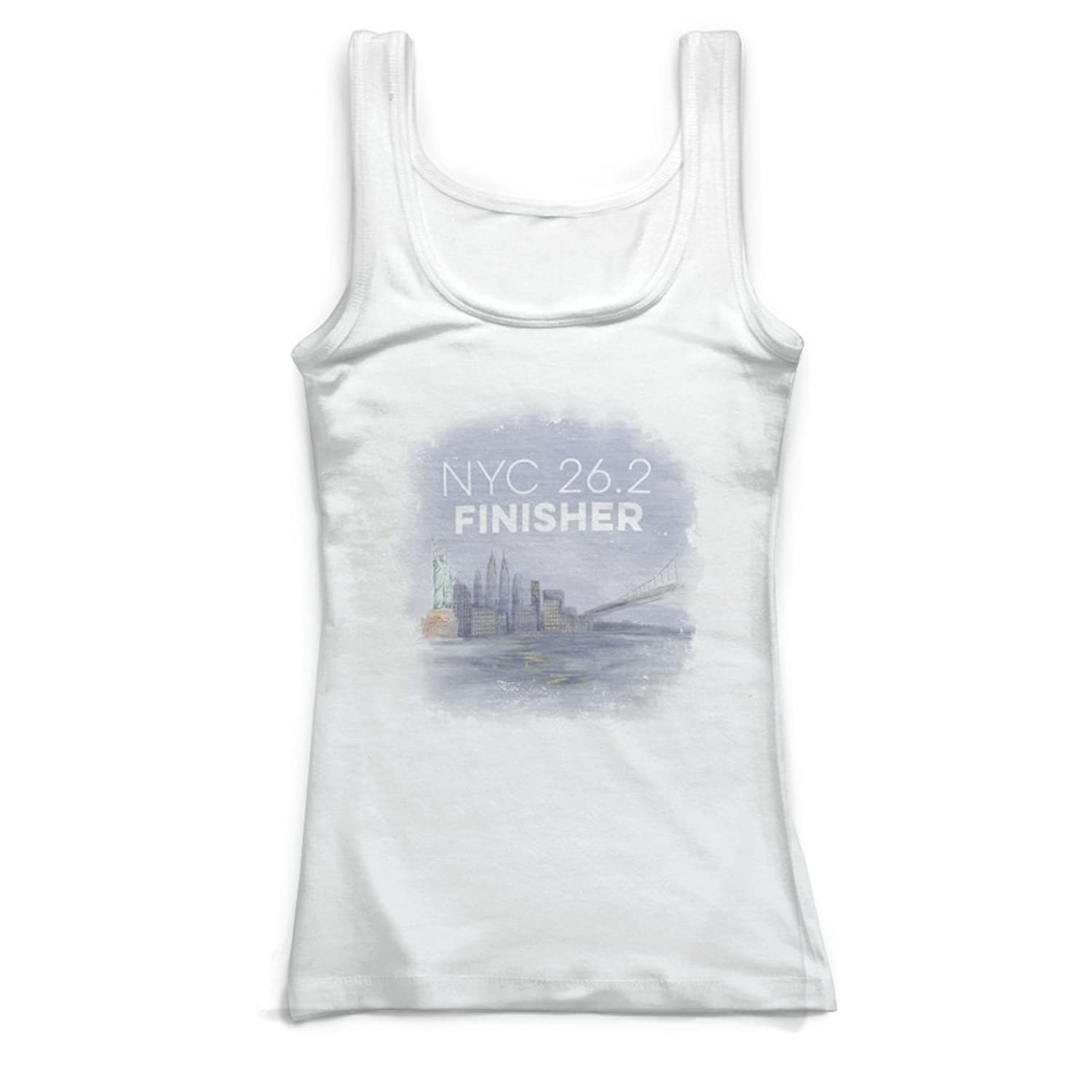 Gone For a Run Running Vintage Fitted Tank Top - New York City Sketch 26.2 Finisher